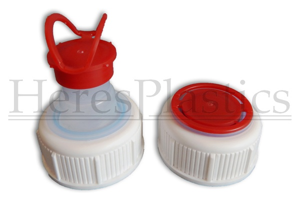 screw cap with integrated pull-up spout