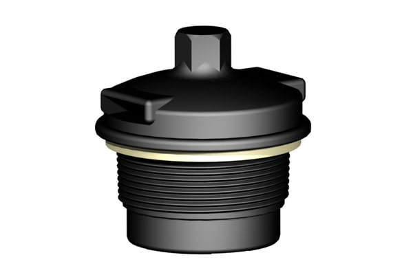 venting discharge plug for ibc